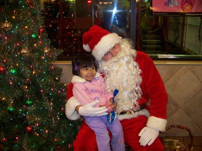 Church dinner and Santa pictures 036